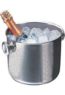 Balde De Gelo 21Cm De Aço Inox Para Vinho Elegance Wolff - R8663