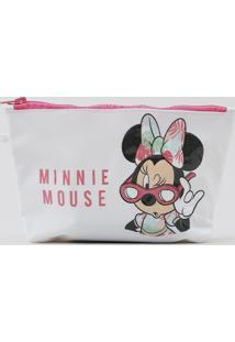 Nécessaire Feminina Minnie Mouse Branca - Único
