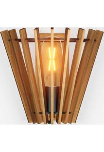 Arandela De Madeira Cilíndrico Rústico Isadora Design Madeira