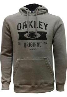 Blusa Canguru Oakley Varsity Masculino - Masculino-Cinza