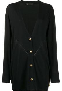 Versace Cardigan Decote V - Preto