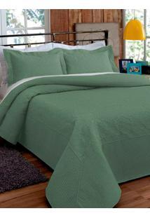 Kit De Colcha Queen Verde