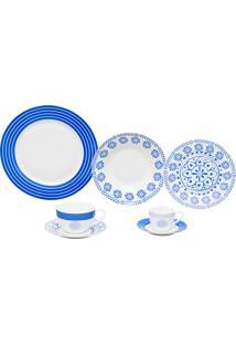 Aparelho De Jantar De Porcelana High Montgomery Wolff – 42 Peças