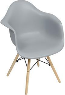 Poltrona Eames Dar- Cinza & Madeira- 82X62X44Cm-Or Design