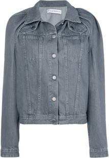 Jw Anderson Jaqueta Jeans - Cinza