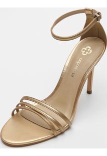 Sandã¡Lia Capodarte Tiras Dourada - Dourado - Feminino - Sintã©Tico - Dafiti