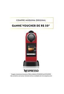 Cafeteira Nespresso Citiz Vermelho Cereja Para Café Espresso - C113-Br