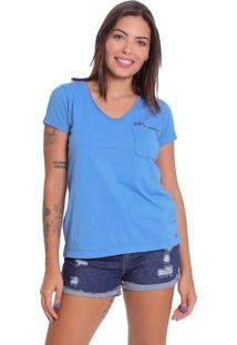 Camiseta T-Shirt Le Julie De Algodáo Azul - Tricae