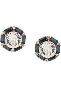 Tani By Minetani Hexagon Stud Earrings - Dourado