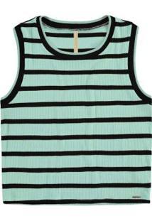 Blusa Malha Wave Stripe Long Verde