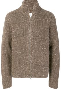 Maison Margiela Bouclé Knit Cardigan - Brown