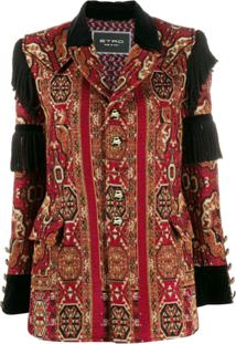 Etro Embellished Embroidered Jacket - Vermelho