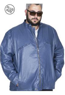 Jaqueta Bigshirts Plus Size Resinada Azul