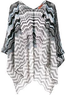 Missoni Striped Knit Kimono - Azul
