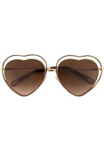 Chloé Eyewear Óculos De Sol Degradê - Marrom