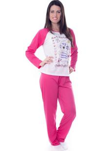 Pijama Vip Lingerie Inverno Longo Rosa