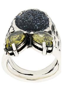 Voodoo Jewels Anel 'Sigillum' - Metálico