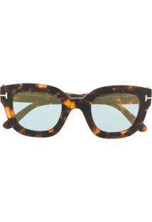 Tom Ford Eyewear Óculos De Sol 'Pia' - Marrom