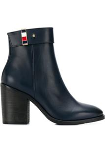 Tommy Hilfiger Ankle Boot Clássica - Azul