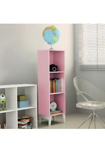 Estante Livreiro 2 Prateleiras Twister Tcil Móveis Quartzo Rosa