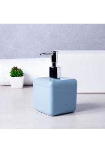 Porta Sabonete Líquido De Bancada Polipropileno Azul Brinox