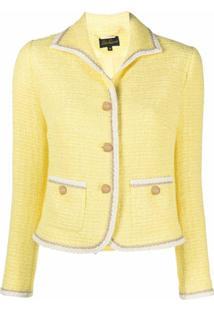Luisa Spagnoli Blazer Slim De Tweed - Amarelo