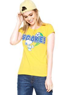 Camiseta Snoopy Brasil Amarela
