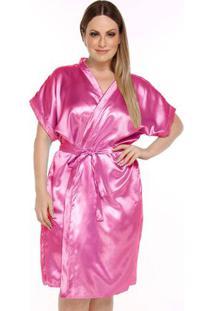 Robe Feminino Plus Size Acetinado - Luna Cuore