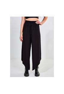 Calça Pantalona Com Elástico