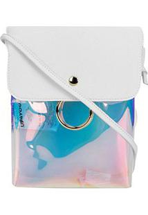 Bolsa Up4You Transversal Furtacor Feminina - Feminino-Branco