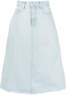 Nobody Denim Saia Jeans Whisper - Azul