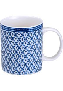 Caneca De Porcelana 330Ml Fier - Bon Gourmet - Branco