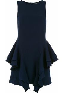 Olympiah Vestido 'Chipre' Com Babados - Azul