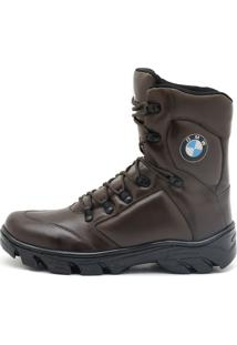 Bota Atron Shoes Militar Bmw Café
