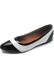 Sapatilha Dafiti Shoes Recorte Preta - Preto - Feminino - Dafiti