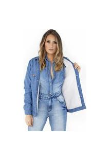 Jaqueta Forrada Jeans Ecolife