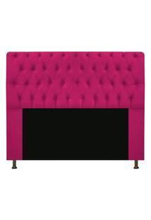 Cabeceira Casal Queen 160 Cm Para Cama Box Sofia Suede Pink - Ds Estofados
