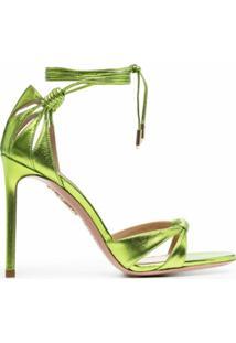 Aquazzura Sandália Com Salto 105Mm - Verde