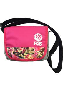 Bolsa Shoulder Bag Progress- Pgs Flowers Rosa