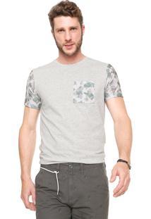 Camiseta Fiveblu Manga Curta Bolso Cinza