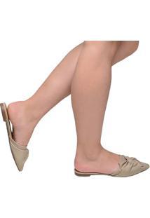Sapato Feminino Mule Bico Fino Santa Lolla Nude