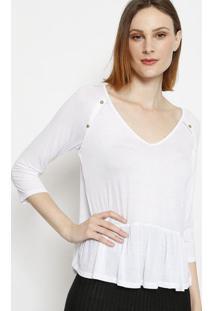 Blusa Com Recortes - Branca - Lanã§A Perfumelanã§A Perfume