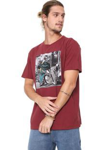 Camiseta Reserva Biker Brutus Vinho