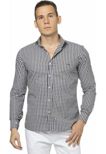 Camisa Slim Fit Classics Black Withe