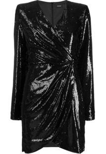 P.A.R.O.S.H. Vestido Mini Com Paetês - Preto