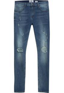 Calça John John Skinny Concepcion Jeans Azul Masculina (Medium Jeans, 42)