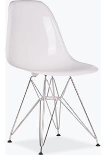 Cadeira Eames Dsr - Fibra De Vidro Branco
