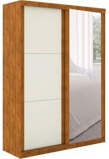 Guarda-Roupa Casal Com Espelho Simon 2 Pt 2 Gv Nature E Off White