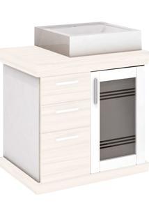 Gabinete Para Banheiro Em Mdf Imola Ii 60X58Cm Mezzo Blanco