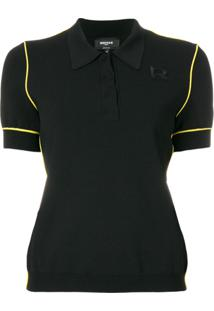 Rochas Camisa Polo Com Detalhes Contrastantes - Preto